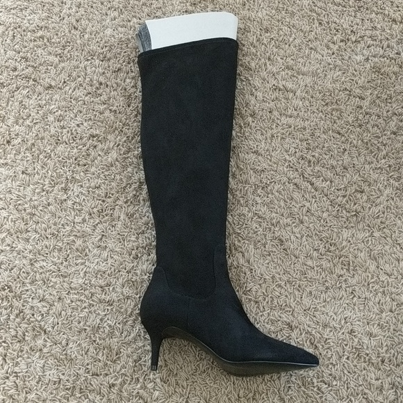Nine West Marcia Black Suede Boots